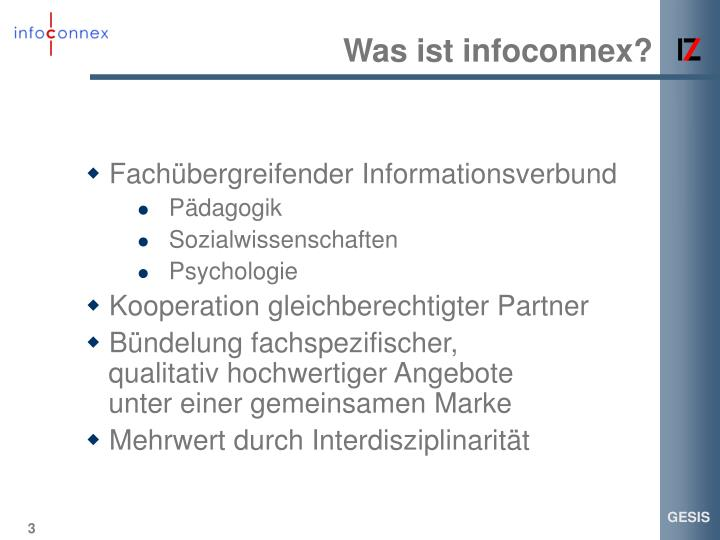 Was ist infoconnex?