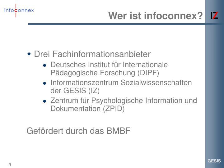 Wer ist infoconnex?