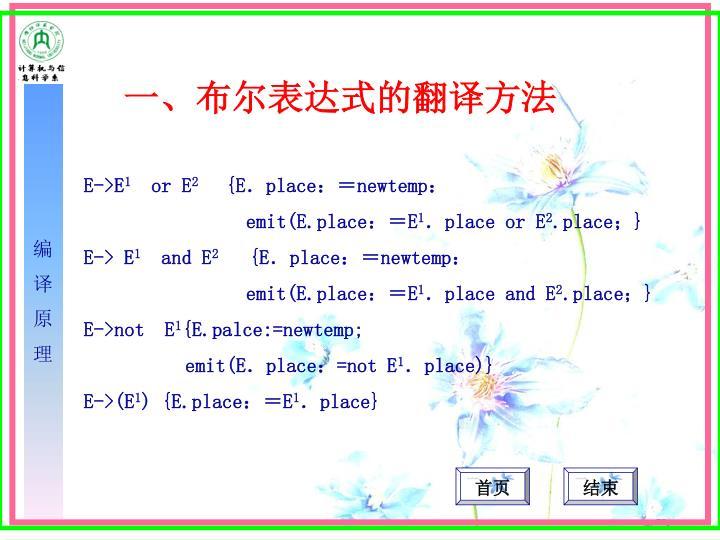 一、布尔表达式的翻译方法