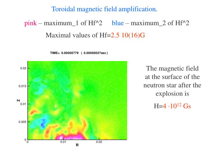 Toroidal magnetic field amplification