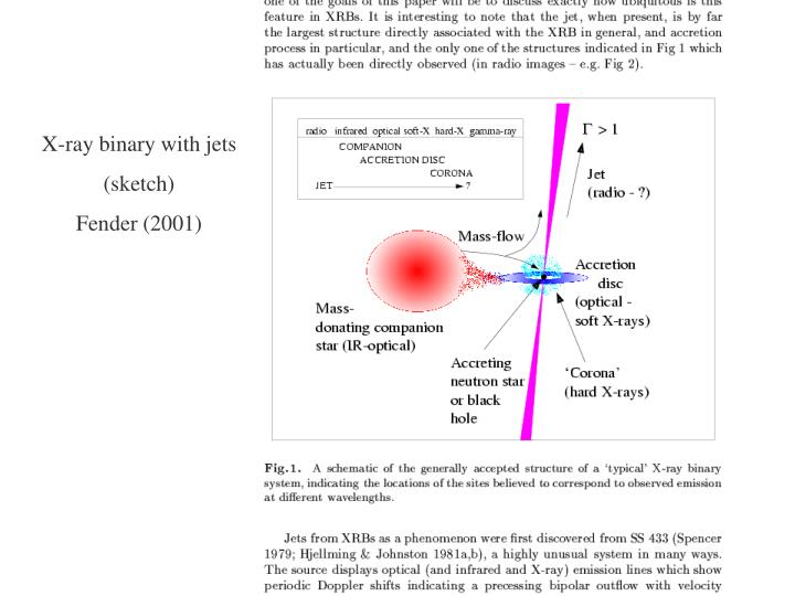 X-ray binary with jets