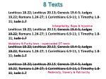 8 texts5