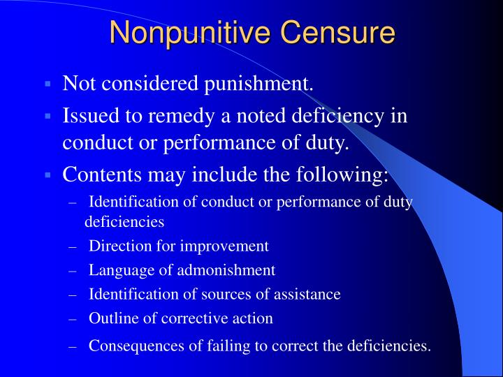 Nonpunitive Censure