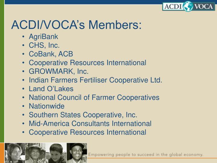 ACDI/VOCA's Members: