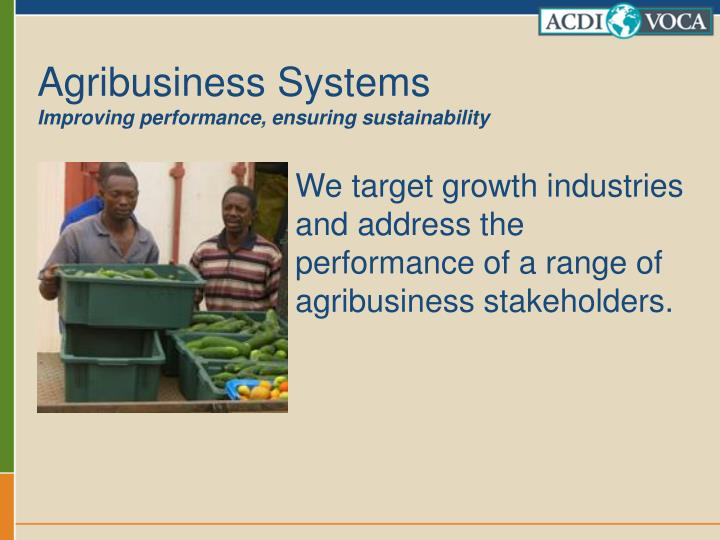 Agribusiness Systems