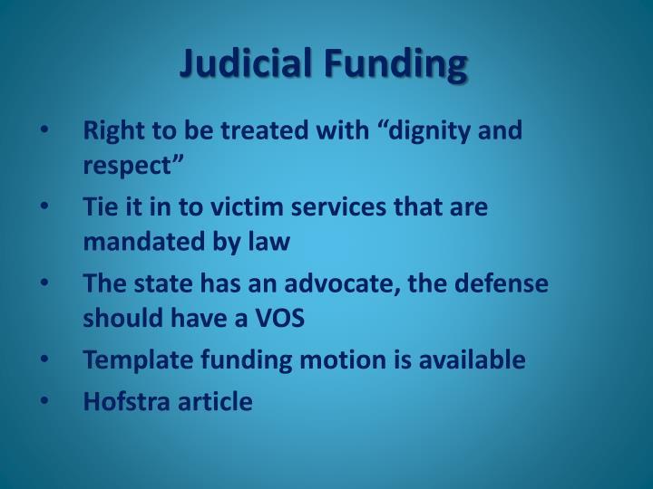 Judicial Funding