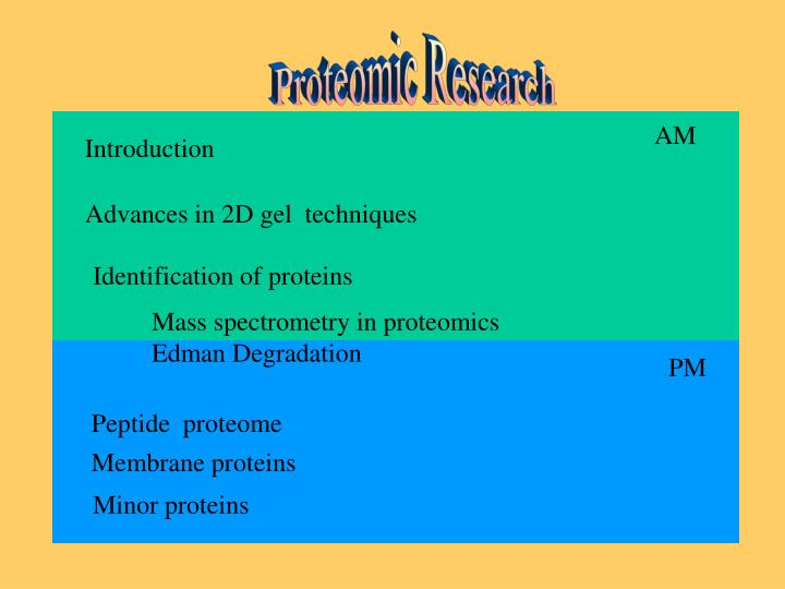 Proteomic Research