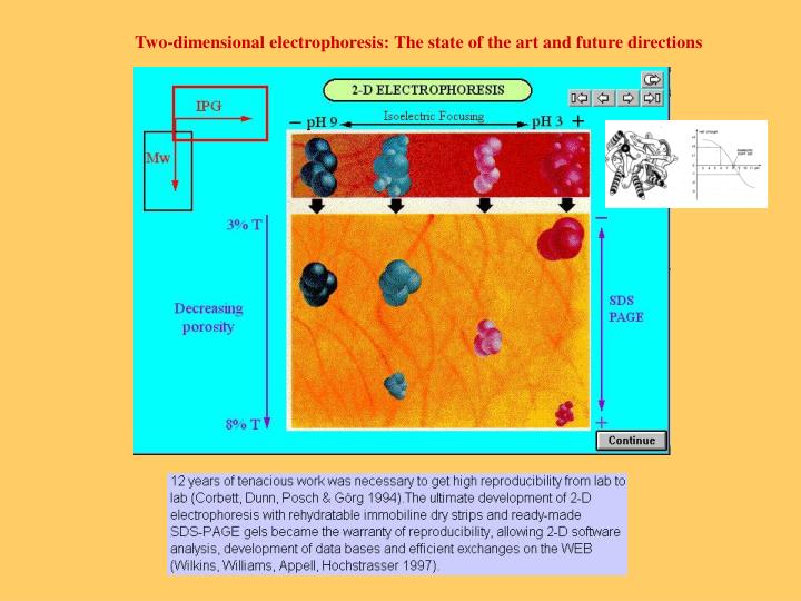 Two-dimensional electrophoresis: The state of the art and future directions