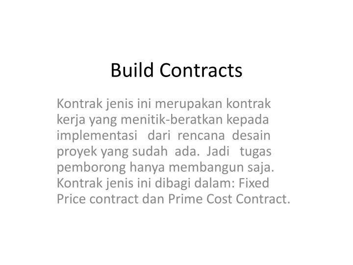Build Contracts