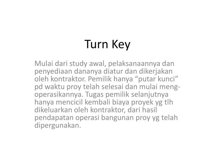 Turn Key