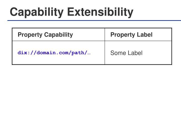 Capability Extensibility