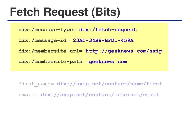 Fetch Request (Bits)