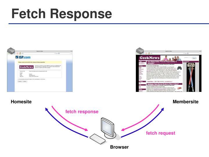 Fetch Response