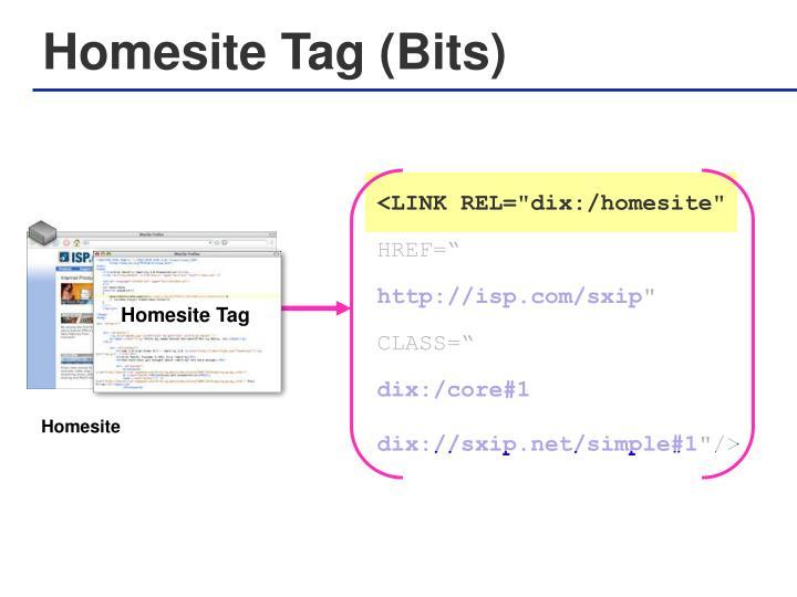 Homesite Tag (Bits)