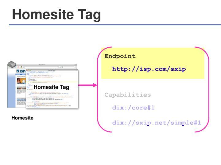 Homesite Tag