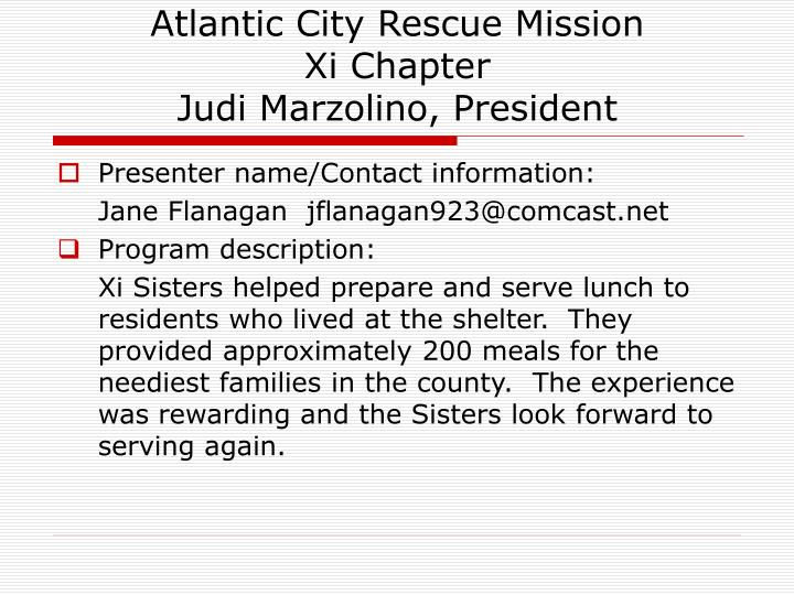 Atlantic City Rescue Mission