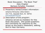 book discussion the book thief zeta chapter barbara schaller president