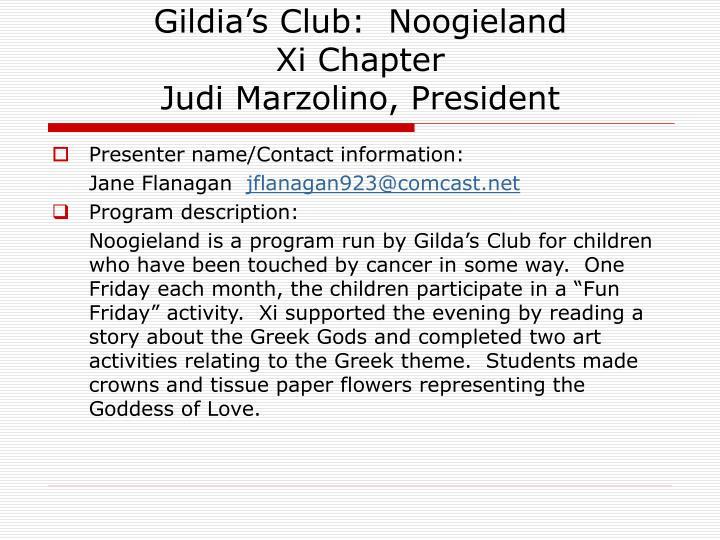 Gildia's Club:  Noogieland