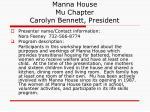 manna house mu chapter carolyn bennett president