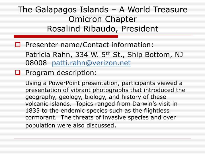 The Galapagos Islands – A World Treasure
