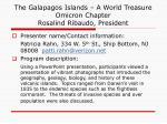the galapagos islands a world treasure omicron chapter rosalind ribaudo president