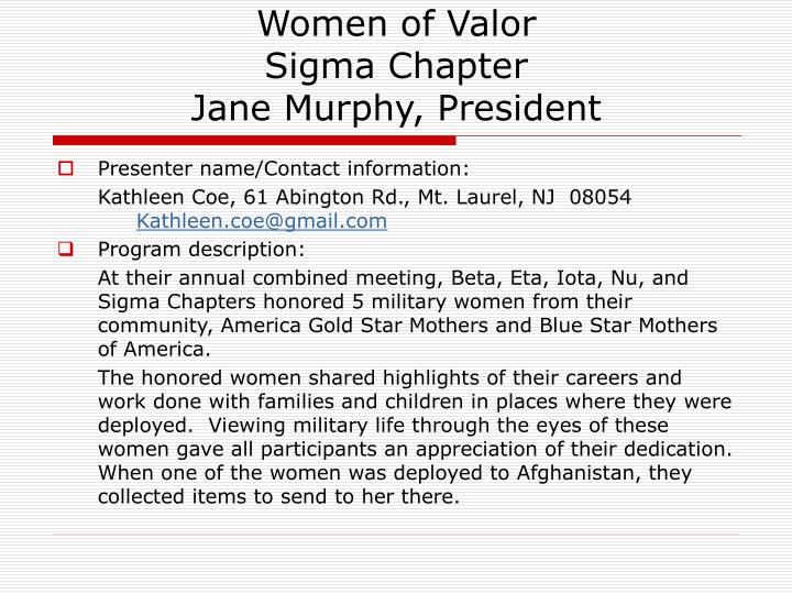 Women of Valor