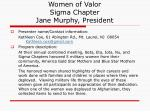 women of valor sigma chapter jane murphy president