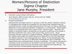 women persons of distinction sigma chapter jane murphy president