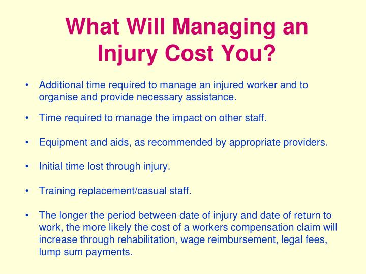 What Will Managing an Injury Cost You?