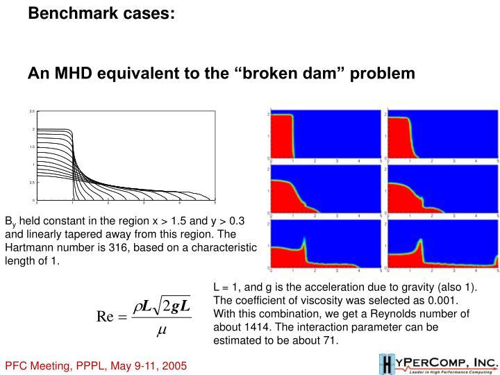 Benchmark cases: