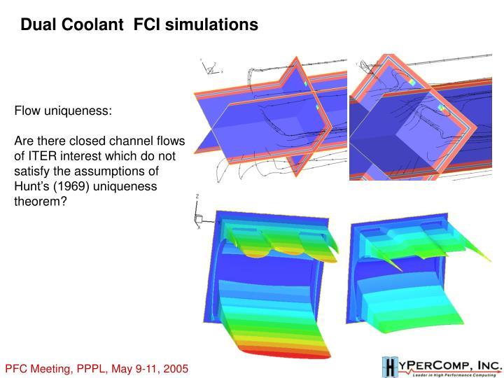 Dual Coolant  FCI simulations