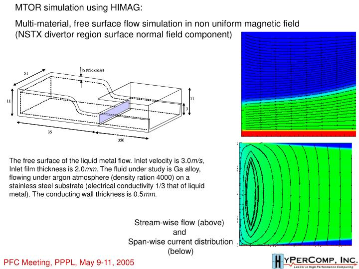 MTOR simulation using HIMAG: