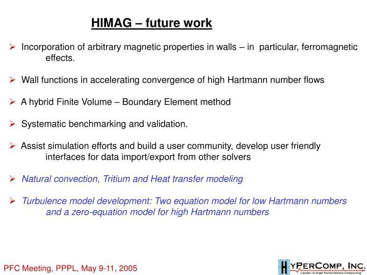 HIMAG – future work
