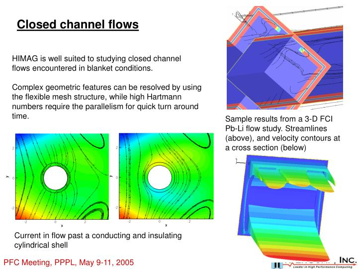 Closed channel flows