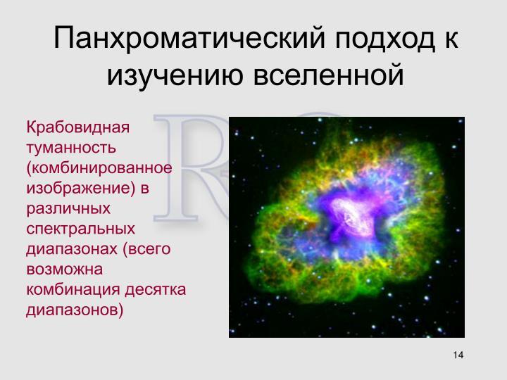 Панхроматический подход к изучению вселенной