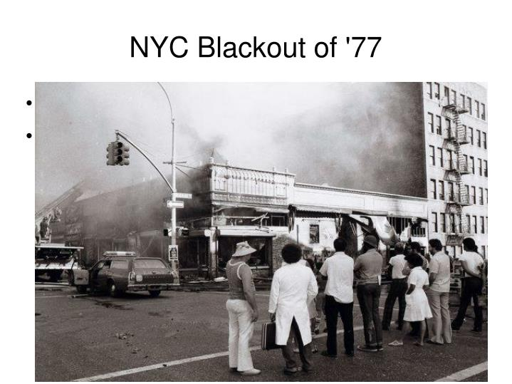 NYC Blackout of '77