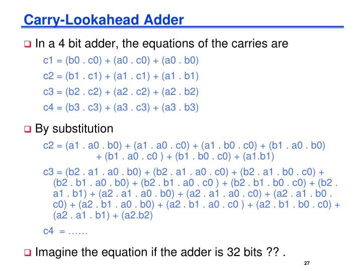 Carry-Lookahead Adder