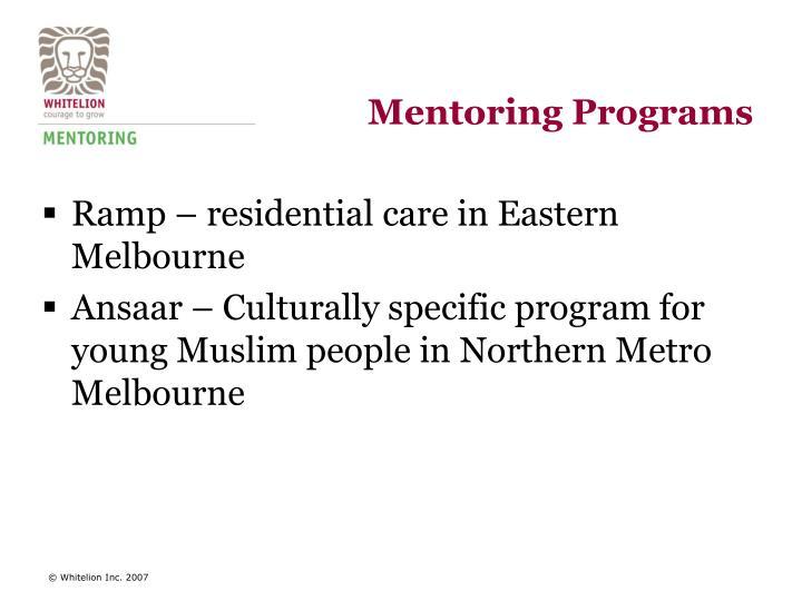 Mentoring Programs