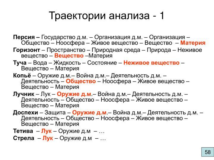 Траектории анализа - 1
