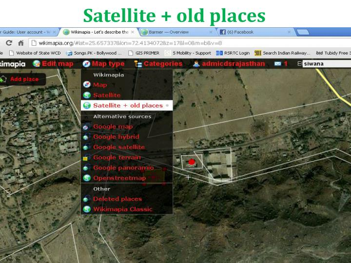Satellite + old places