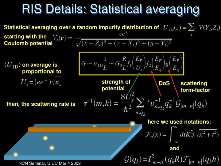 RIS Details: Statistical averaging