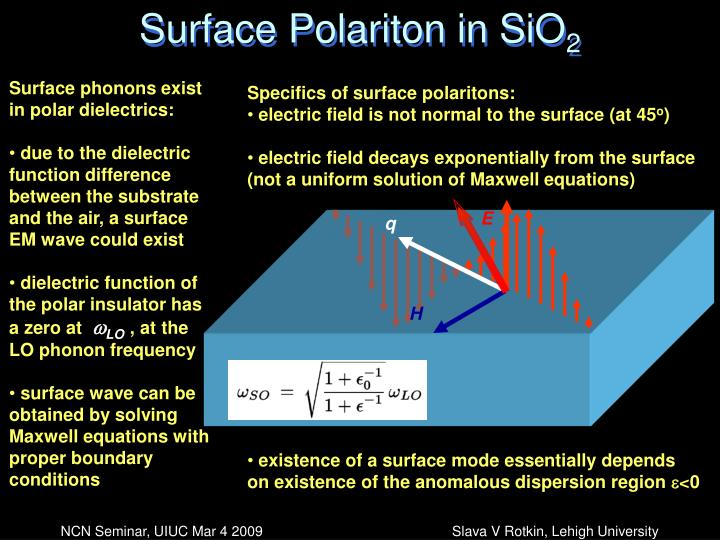 Surface Polariton in SiO