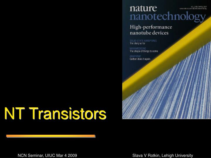 NT Transistors