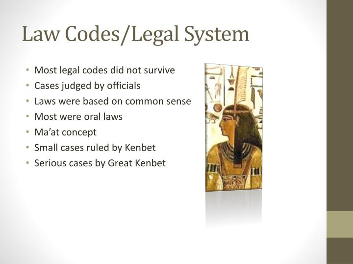 Law Codes/Legal System
