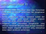 asas umum pasal 3