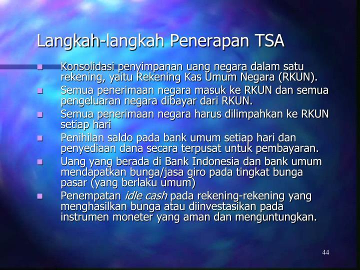 Langkah-langkah Penerapan TSA