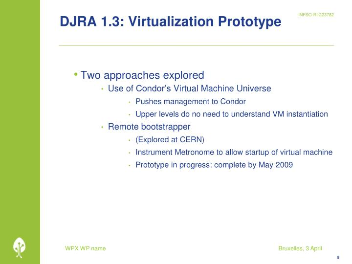 DJRA 1.3: Virtualization Prototype