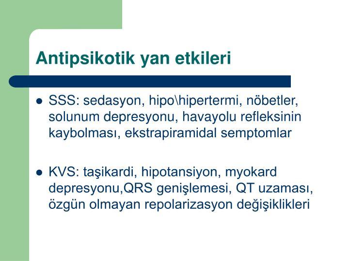 Antipsikotik yan etkileri