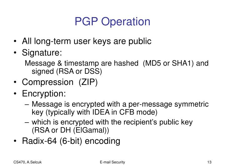 PGP Operation