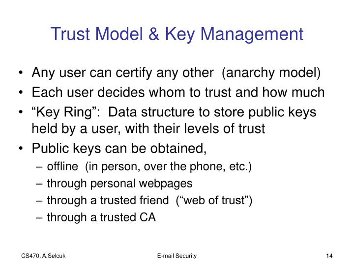 Trust Model & Key Management
